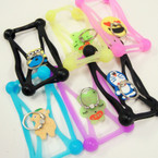 Silicone Cell Phone Protectors w/ Handle Mixed Styles 12 per pk  .54 ea