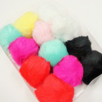 "7-Color 4"" Faux Fur Fashion Keychain Asst Colors .66 each"
