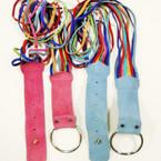 CLOSEOUT 60's Style Multi Color Fringe Belts 12 per pk .33 each