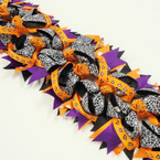 "5"" Spider Web Theme Halloween Gator CLip Bows .54 each"