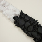 "4"" Black & White Gator CLip Bows 24 per pack .27 each"
