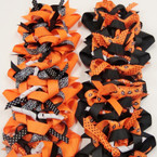 "5"" Multi Ribbon Halloween Theme Gator Clip Bows .56 each"
