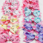 "4.5"" Cup Cake Theme Gator Clip Ribbon Fashion Bows .54 each"