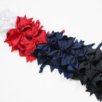 "5"" Gator Clip Bows w/ Dangle Curly Ribbons 4 Asst Colors  .54 each"