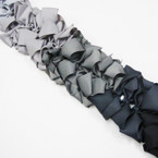 "4"" Gray Tone Gator CLip Bows 24 per pack .27 each"