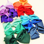 "3 Pack 4"" Solid Color Gator Clip Bows 12-3 pkss for $ 6.75"