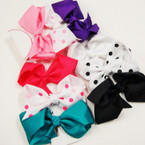 "3 Pack 4"" Solid Color & Poka Dot  Gator Clip Bows 12-3 pkss for $ 6.75"