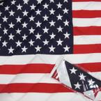 "21"" Square USA Flag Bandana's 12 per pack .45 each"