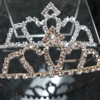 Gold & Silver Rhinestone Tiara Headbands Clear Stones  .65 each