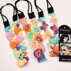 Popular Multi Color Headbands w/ Elastic Back  .54 each