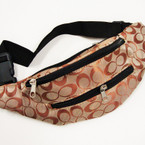 "NEW Designer ""C"" Pattern Adjustable Size Waist Bag 12 per pk $ 3.00 each"