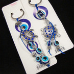 2 Style Cast Turtle Stone Keychains w/ Eye Beads .54 each