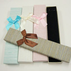 "8"" Fancy Textured Gift Boxes for Necklace/Bracelets 12 per pk .58 each"