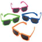 Neon Color Robot Digital Style Sunglasses  $ 1.10 each