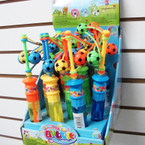 "8.5"" Soccer Clacker w/ Bubble Wand  12 per display bx .75 each"