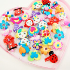 Cute & Colorful Fimo Feel  Mixed Kid's Rings 36 per bx .18 each