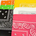 "20"" Square 6 Color Bandana's 12 per pk .52 each"