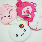 "4"" Mixed Style Bunny Zipper Clip On Coin Purses .54 each"