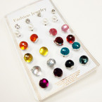 Value Pack 12 Pair Stone & Pearl Earrings as shown  .54 per set