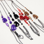 "30"" Chain Fashion Necklace w/ Fall Color Beads  .58 each"