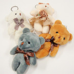 "Cute 5"" Plush 4 Color Teddy Bear Keychains .56 each"