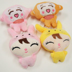 Japanese Style Plush Keychains 4 styles per dz .54 each