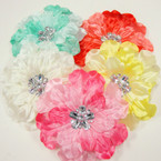 "5"" Two Tone Layered Flower w/ Stones  3 in 1 Use .54 each"