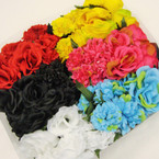 Trending Color Large Flower Headbands w/ Elastic Back .56 each