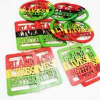 """3.25"""" Rasta Color Black Lives Matter Wood Earrings .56 each"""