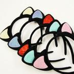 Popular Black Cat Ears Headbands w/ Glitter Ears .56 each