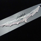 Silver Fancy  Rhinestone  Chain Anklets .54 each