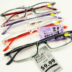 Unisex Fashion Reading Glasses  12 per bx .55 each