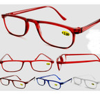 Plastic Half-Eye Colorful Reading Glasses 12 per bx .55 ea