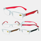Unisex Half Rimless Fashion Reading Glasses  12 per bx .55 each
