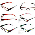 Ladies Shiny Translucent Plastic Readers Asst Styles .55 ea