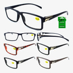 Men's Fashion Reading Glasses w/ Gold on Temple   .58 each