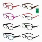 Men's & Ladies Asst Plastic  Reading Glasses  .55 each