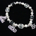 Graduation Stretch Charm Bracelets 12 per pk .60 each
