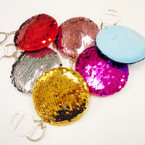 "3.5"" NEW Change Color Sequin Mermaid Style  Keychain .54 each"