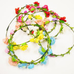 Popular Wire Flower Halo's Asst Colors per dz .54 each