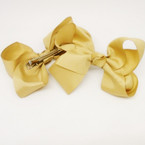 "4.5"" All Khaki Color Gator Clip Bows 24 per pk .30 each"