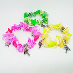 Colorful Chip Shell Stretch Charm Bracelets w/ Star  .54 each