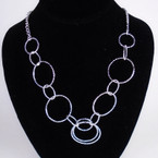 "18"" Gold & Silver Multi Ring Fashion Necklace Set .54 ea set"