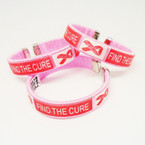 Pink Cuff Bangle FIND THE CURE Pink Ribbon  12 per pk .45 each
