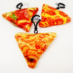 "NEW 4""  Pizza Theme Plush w/ Clip .54 each"