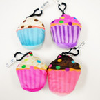 "NEW 3"" Cup Cake Theme Plush w/ Clip .54 each"