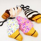 "NEW 4"" Ice Cream Cone Theme Plush w/ Clip .54 each"