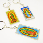 "2.5"" Metal DBL Sided Guadalupe Keychain .54 each"