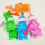"6"" Bear Bubble Necklace w/ Whistle 24 per display bx .45 each"
