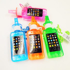 "6"" Cell Phone Bubble Necklace w/ Whistle 24 per display bx .45 each"